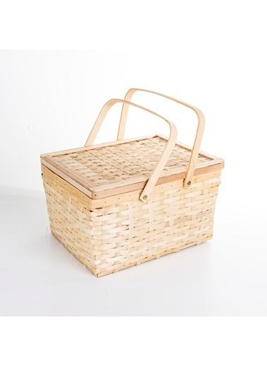Veramaya Bambu Piknik Sepeti 37X22X29 Cm Renkli